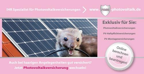 Haarige Angelegenheit - Jetzt Photovoltaikversicherung wechseln - www.rosa-photovoltaik.de